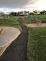 Rubber mulch completed at play park.