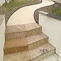 Resin Bonded Path and Steps